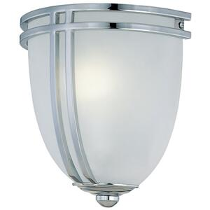 Wall Sconce, Chrome/frost Glass Shade, Type Fluor. Gu24 13w
