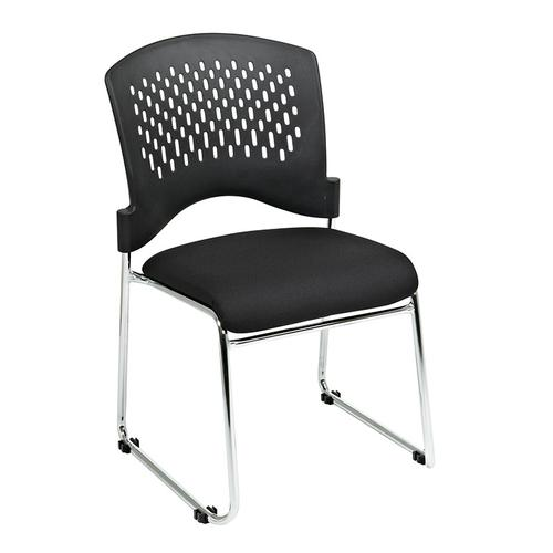 Office Star - Visitors Chair With Plastic Back