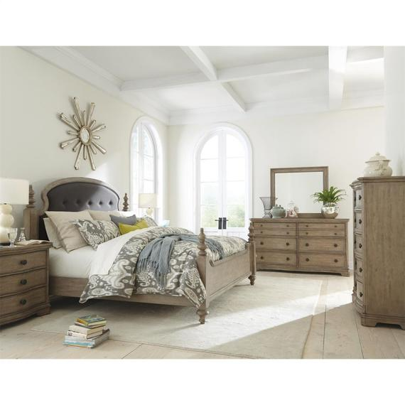 Riverside - Corinne - Five Drawer Chest - Sun-drenched Acacia Finish