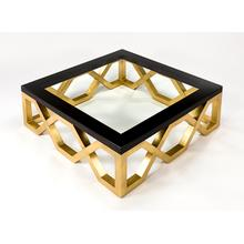 """View Product - Coffee Table with Glass 43x43x17"""""""