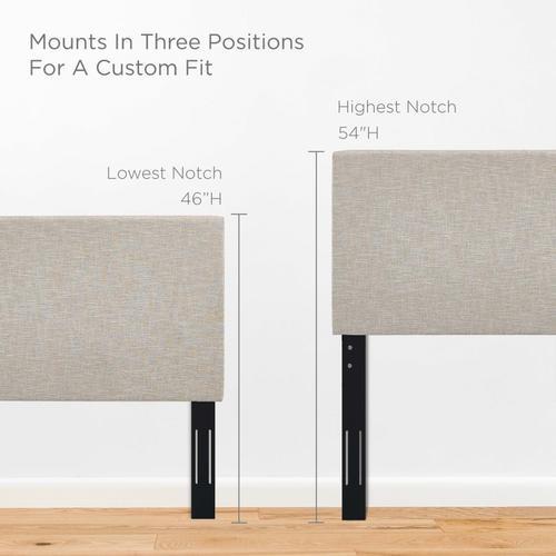 Modway - Taylor Full / Queen Upholstered Linen Fabric Headboard in Beige