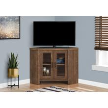 "TV STAND - 42""L / BROWN RECLAIMED WOOD-LOOK CORNER"