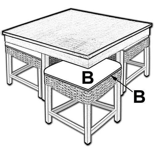 Capris Furniture - Hassock Table, Available in Grey Wash or Royal Oak Finish.