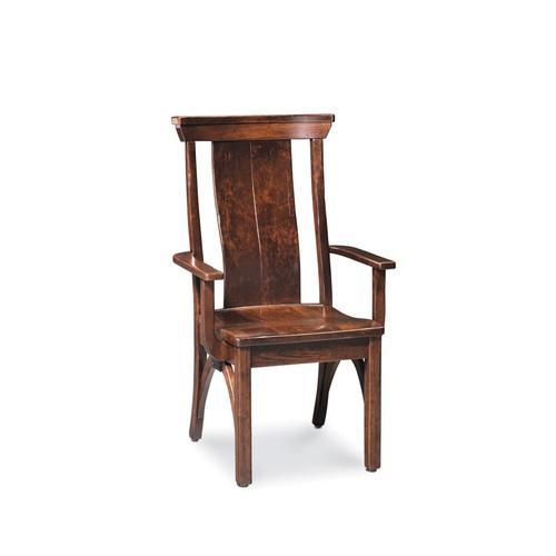 B&O Railroade Trestle Bridge Arm Chair, Wood Seat