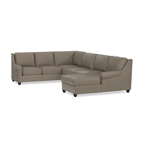 Ellery Leather U-Shaped Sectional