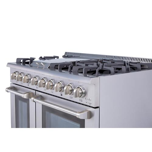 48 Inch Professional Dual Fuel Range In Stainless Steel - Liquid Propane
