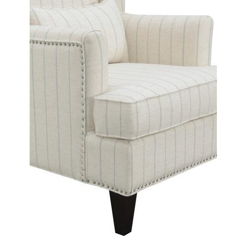 Isabella Accent Chair, Slate Blue Striped Natural U3833-05-09