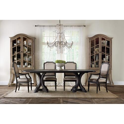 Product Image - Corsica Dark Rectangle Pedestal Dining Table w/2-20in Leaves