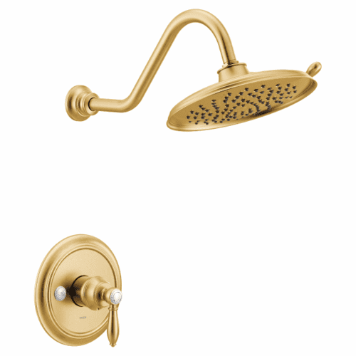 Weymouth brushed gold m-core 3-series shower only