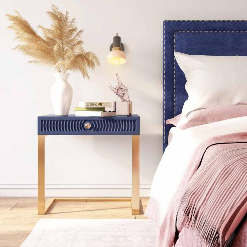 Janie Blue Lacquer Side Table