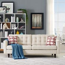 Empress Upholstered Fabric Sofa in Beige