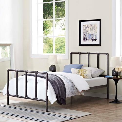 Modway - Dower Twin Bed in Brown