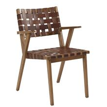 CHAIR-UMBER LEATHER,2/CTN,KD