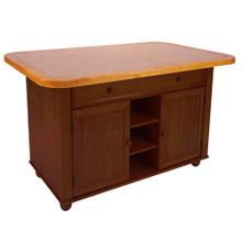 See Details - Kitchen Island - Nutmeg w/Light-Oak trim and Terracotta Rose Tile Top
