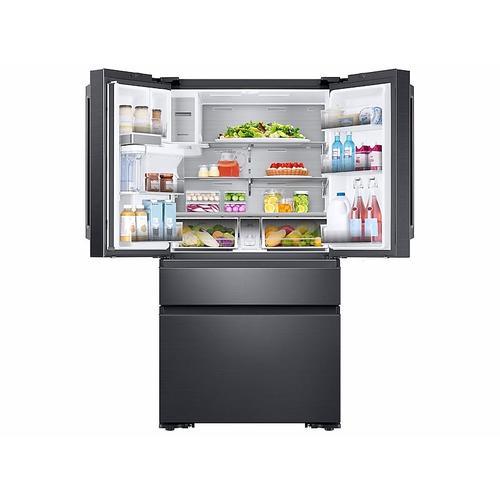 Samsung - 23 cu. ft. Counter Depth 4-Door French Door Freestanding Chef Collection Refrigerator in Matte Black Stainless Steel