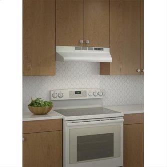 "Broan 160 CFM, 24"" Undercabinet Range Hood in White With Black Trim"