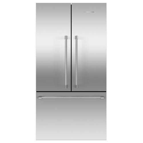 """Fisher & Paykel - Freestanding French Door Refrigerator Freezer, 36"""", 20.1 cu ft, Ice"""
