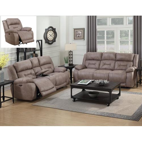 """Steve Silver Co. - Aria Pwr-Pwr Recliner Console Loveseat Desert Sand 77""""x43""""x43"""
