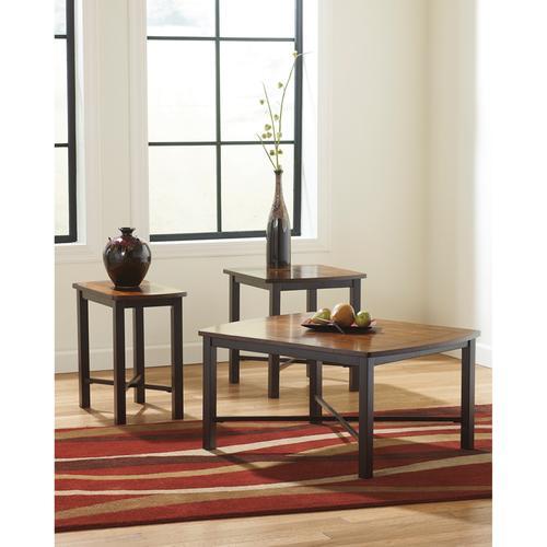 Signature Design by Ashley Fletcher 3 Piece Occasional Table Set [FSD-TS3-63DBZ-GG]