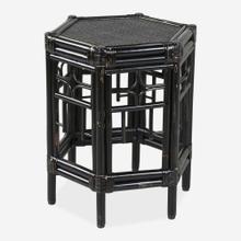 Wren Chippendale Rattan Side Table, Black