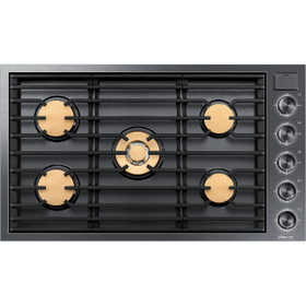 "36"" Gas Cooktop, Graphite Stainless Steel, Natural Gas"