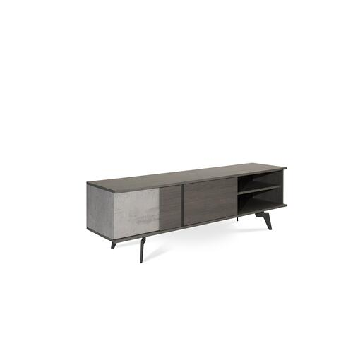 Nova Domus Palermo Italian Modern Faux Concrete & Grey TV Stand