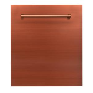 24 in. Top Control Dishwasher 120-Volt with Stainless Steel Tub and Traditional Style Handle [Color: Copper] -