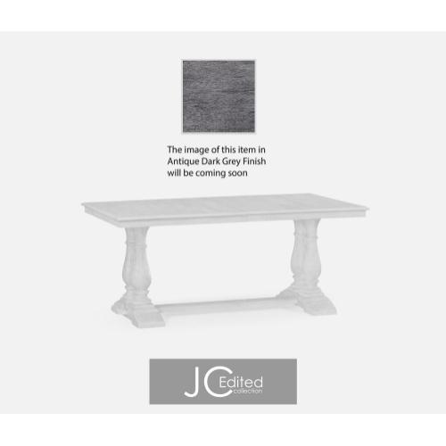 Antique dark grey rectangular extending dining table