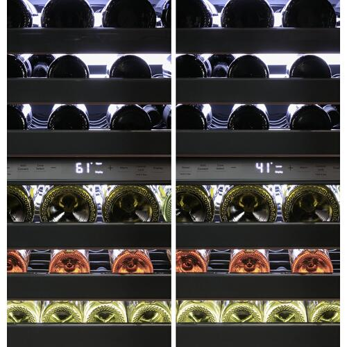 Café™ Wine Center in Platinum Glass