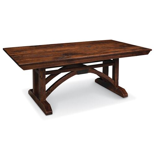 "B&O Railroade Trestle Bridge Trestle Table, B&O Railroade Trestle Bridge Trestle Table, 48""x72"", 1-18"" Stationary Butterfly Leaf on Each End"
