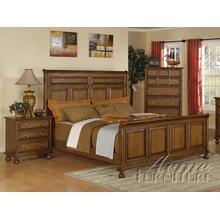 Oak Finish Queen Size Bedroom Set