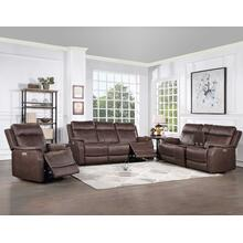 See Details - Valencia 3-Piece Dual-Power Walnut Reclining Set (Sofa, Loveseat & Chair)