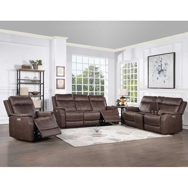 Valencia 3-Piece Dual-Power Walnut Reclining Set (Sofa, Loveseat & Chair)