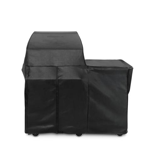 Smoker Carbon Fiber Vinyl Cover (Mobile Kitchen Cart)