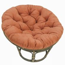 Bali 42-inch Rattan Papasan Chair with Microsuede Fabric Cushion - Walnut/Spice
