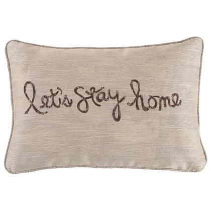 See Details - Lets Stay Home Pillow (set of 4)