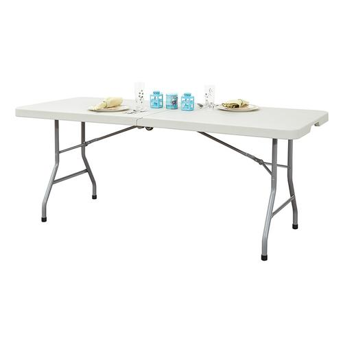 Office Star - 6' Resin Multi Purpose Center Fold Table With Wheels