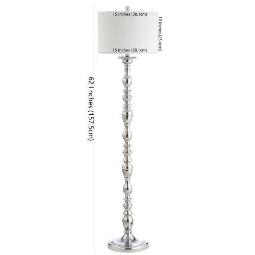 Wilhelmina Floor Lamp - Chrome