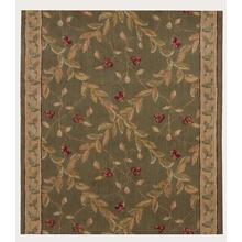 "Ashton House Regal Vine A02r Olive 36"" Runner"