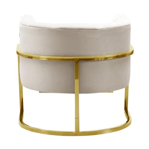 Magnolia Spotted Cream Chair with Gold