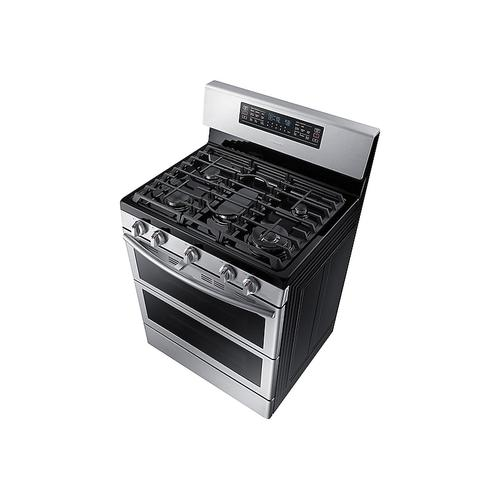 5.8 cu. ft. Freestanding Gas Range with Flex Duo & Dual Door in Stainless Steel