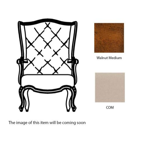 Wing-backed chair in COM