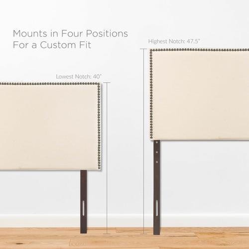 Region Nailhead Twin Upholstered Headboard in Ivory