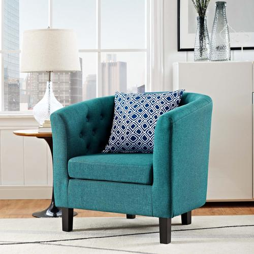 Modway - Prospect Upholstered Fabric Armchair in Teal
