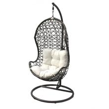 View Product - Panama Jack Hanging Chair w/metal stand & off-white cushion
