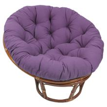 Bali 42-inch Indoor Fabric Rattan Papasan Chair - Walnut/Grape