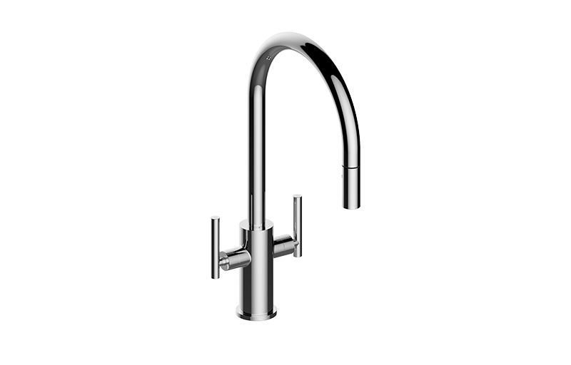 Sospiro Contemporary Two-Handle Single-Hole Kitchen Faucet