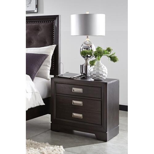 2 Dwr Nightstand w/Power
