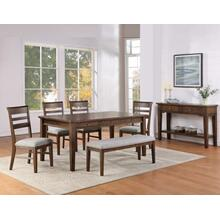 Ora 6-Piece Dining Set (Table, Bench & 4 Side Chairs)