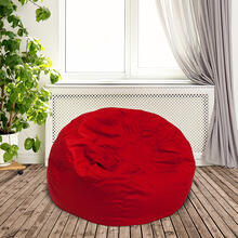 Product Image - Small Solid Red Bean Bag Chair for Kids and Teens